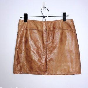 GAP Tan Leather Skirt